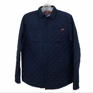 7FAMK SZ Xs Navy Twill Diamond Jacket